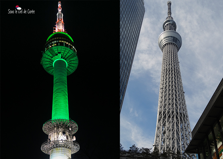 Namsan Tower et Tokyo Skytree