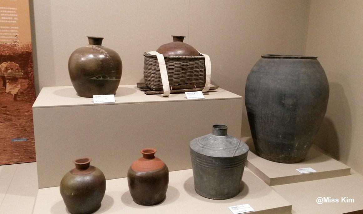 Ensemble de poteries utilisées sur l'île de Jeju