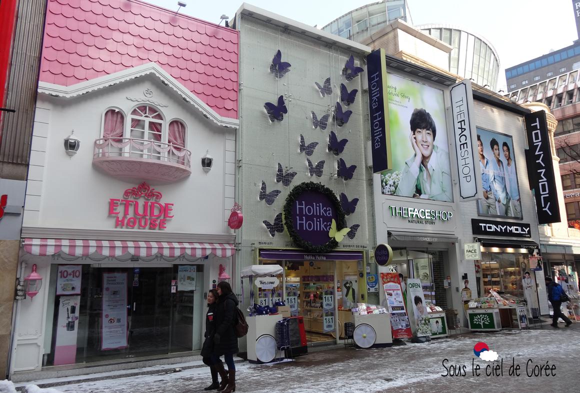 marques cosmétiques coréennes quartier Myeon-dong