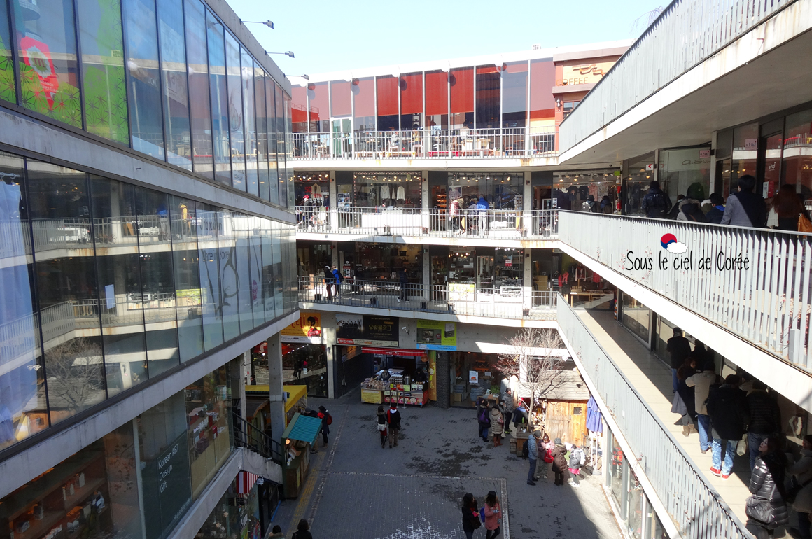 Centre commercial Ssamzie-gil quartier Insa-dong
