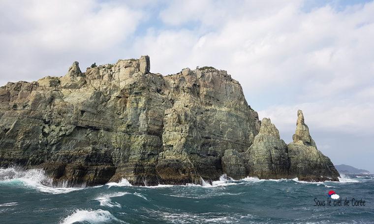 île rocheuse Haegeumgang