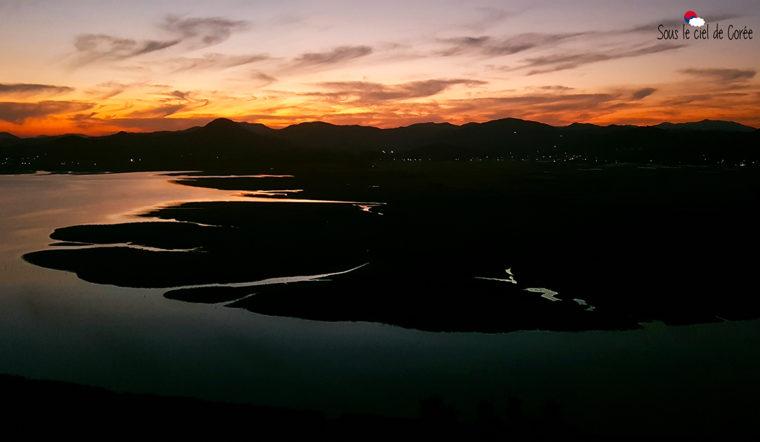 coucher de soleil baie de suncheon