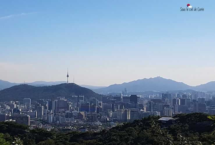 Les montagnes entourant Séoul