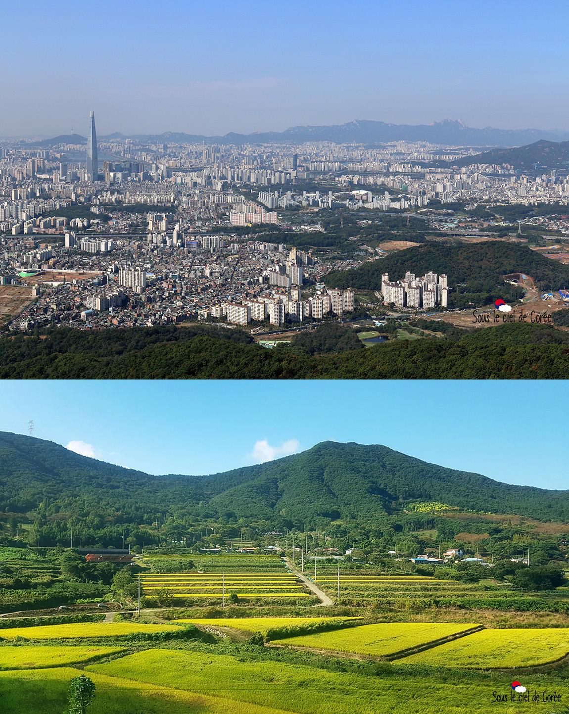 Corée du Sud ville ou campagne