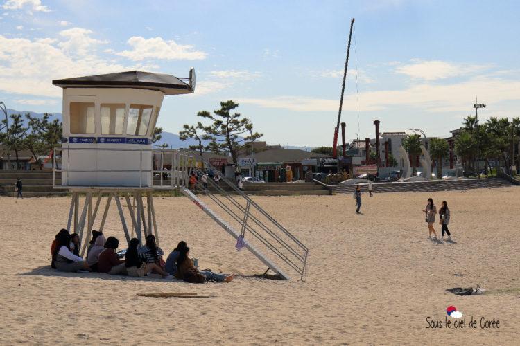 poste de sécurité plage hamdeok beach