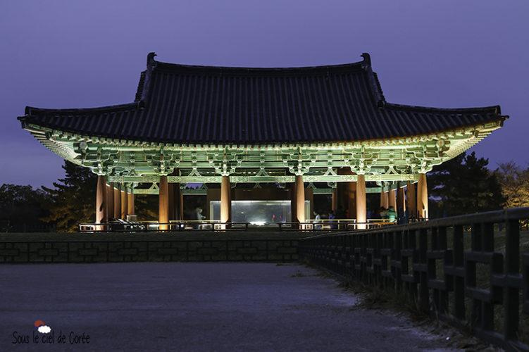 pavillon coréen du palais Donggung Wolji etang Anapji