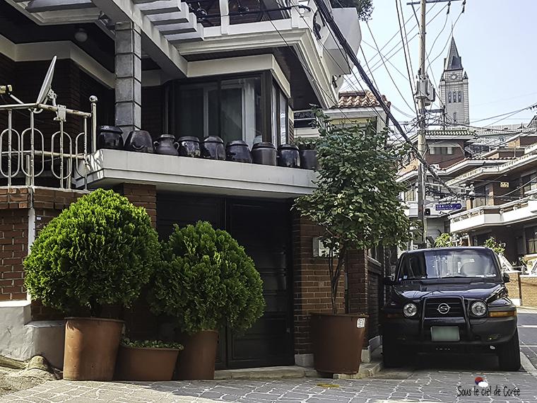 maison coréenne du quartier de Haebangchon