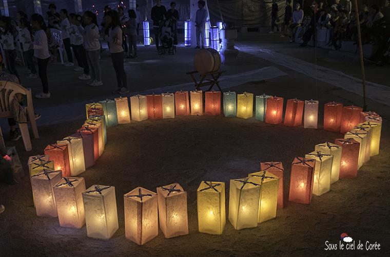 lanternes de papier coréennes