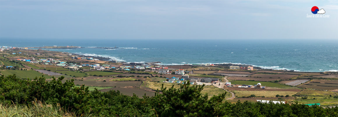 Panorama depuis les hauteurs du pic Udobong, à Udo.
