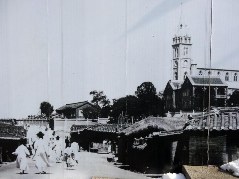 Cathédrale de Myeongdong au début du 20ème siècle