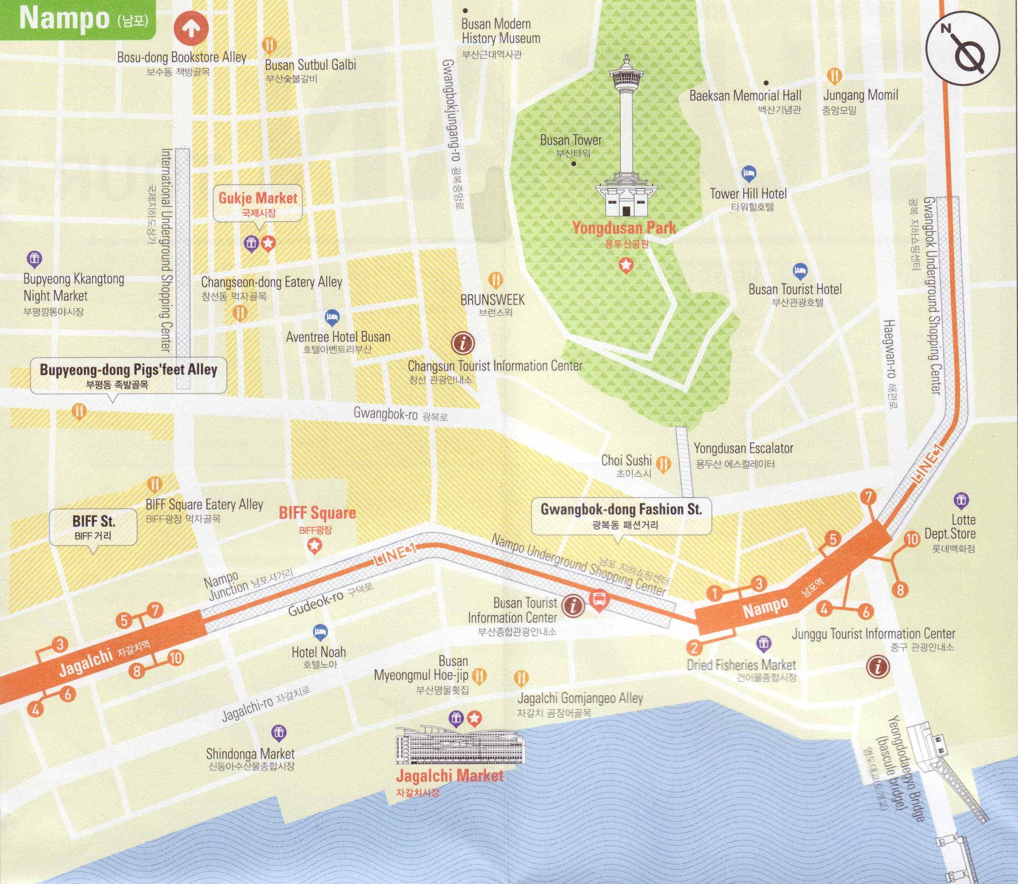 Plan du quartier Nampo
