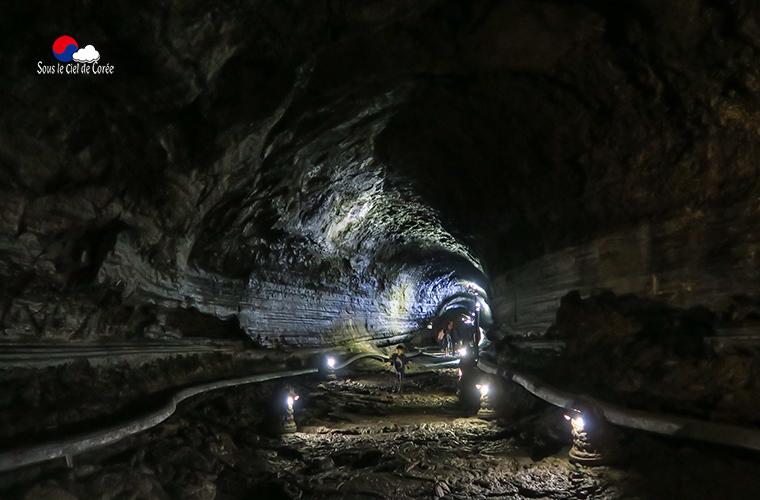 Tunnel de lave Manjanggul à Jeju