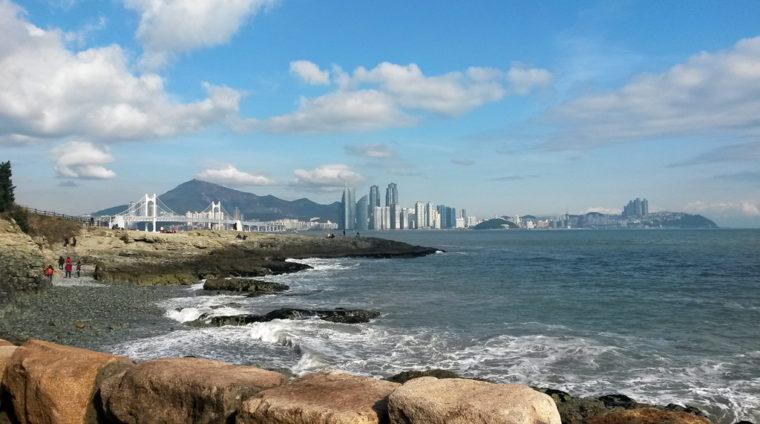 Vue de Busan depuis le parc Igidae