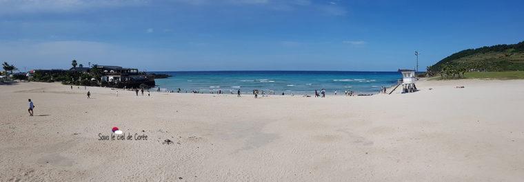 panorama plage hamdeok beach