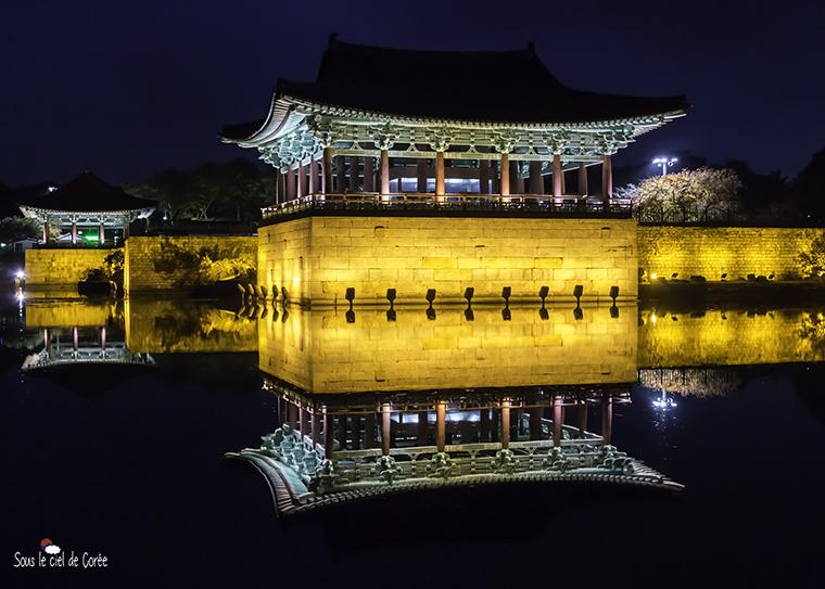 pavillons coréens du palais Donggung Wolji etang Anapji