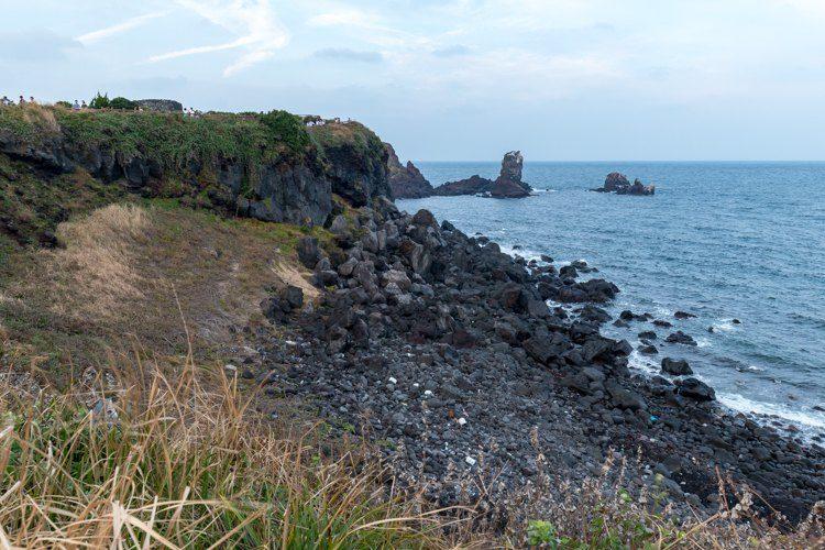 Seopjikoji île de Jeju falaise de roches volcaniques