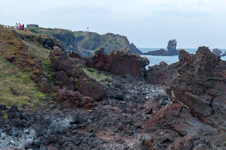 Seopjikoji île de Jeju pierres volcaniques