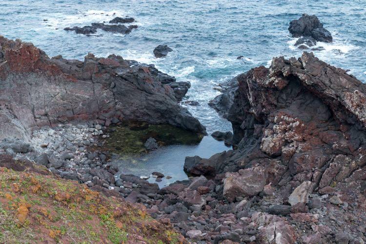 Seopjikoji île de Jeju rochers piscine naturelle