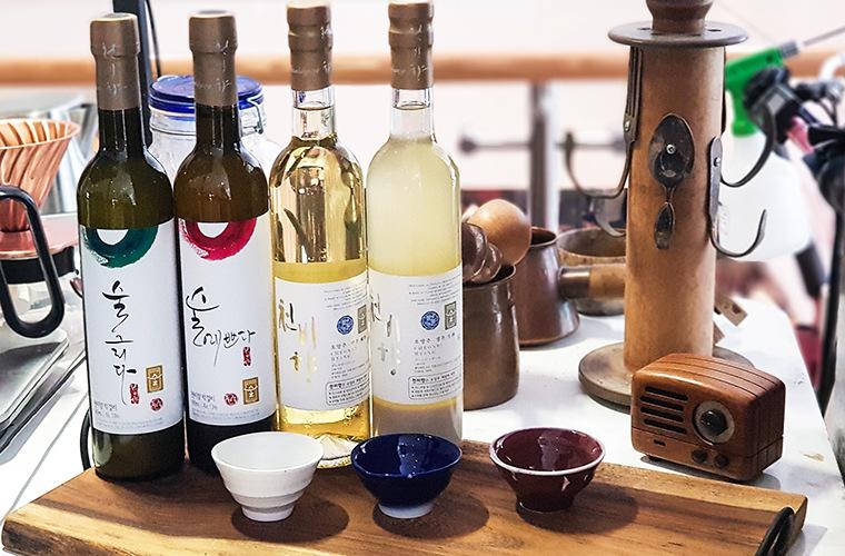 bouteilles d'alcool coréens