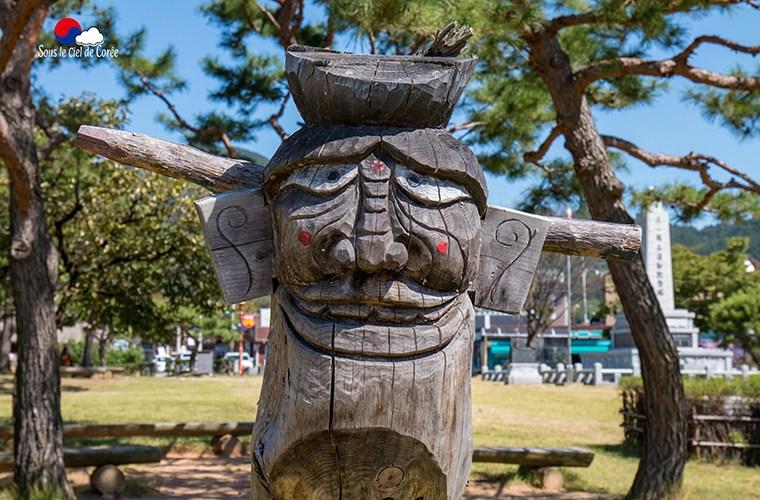 totem pour protéger l'entrée des villages en Corée