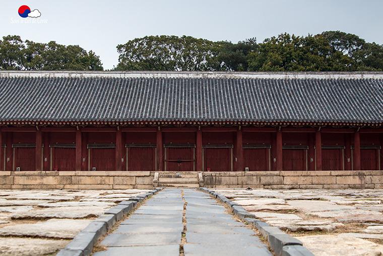 Jeongjeon, sanctuaire de Jongmyo à Séoul