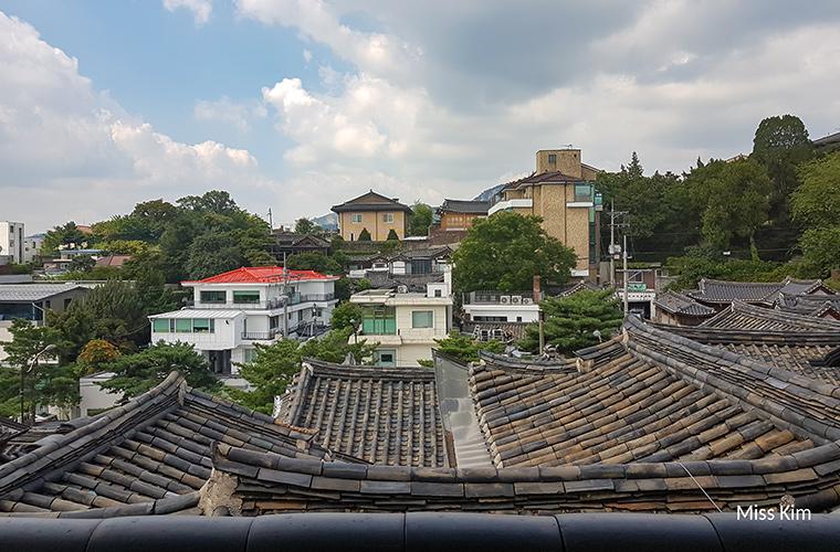 Vue depuis le Bukchon Hanok Hall