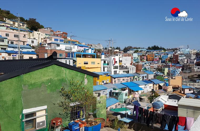 Le quartier coloré de Gamcheon à Busan