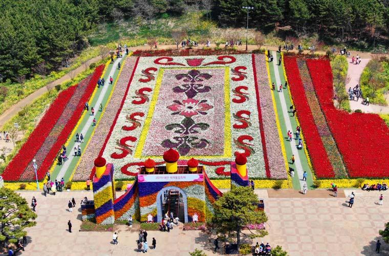 Festival des tulipes de Taean en Corée du Sud