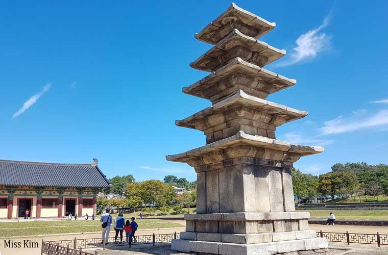 La pagode du temple Jeongnimsa en Corée du Sud