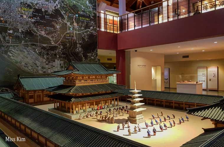 Reconstitution miniature du temple Jeongnimsa en Corée du Sud