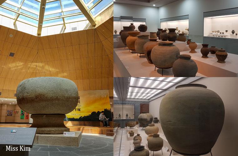 Potéries au musée national de Buyeo en Corée du Sud