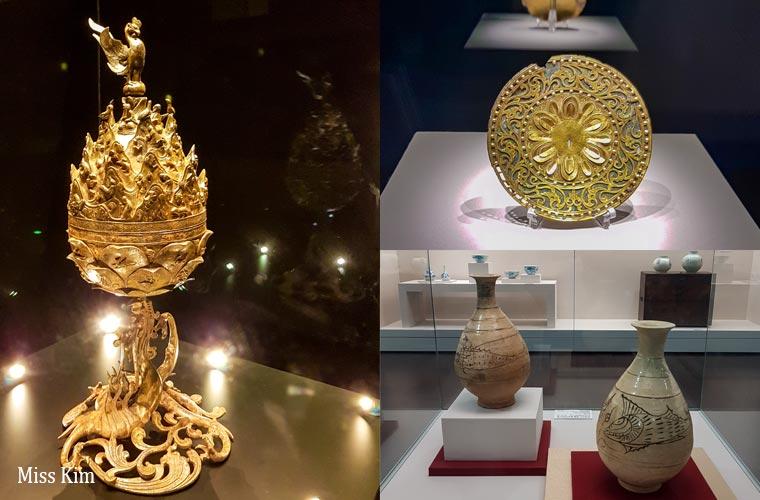 Orfèvrerie au musée national de Buyeo en Corée du Sud