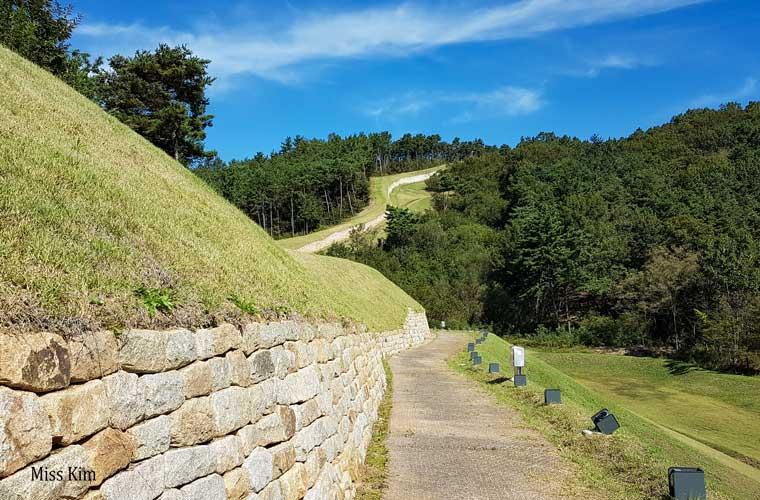 Remparts de Naseong à Buyeo en Corée du Sud