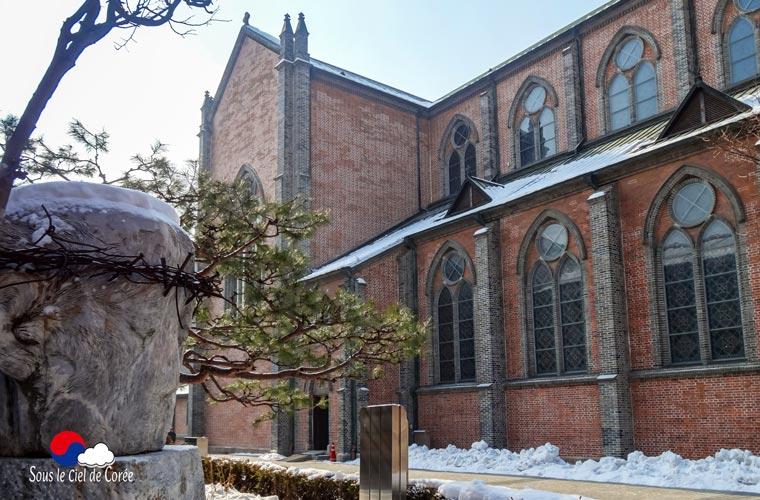 La cathédrale de Myeongdong à Séoul