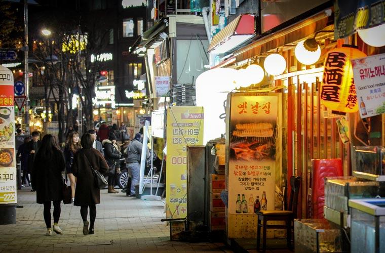 Hongdae de nuit