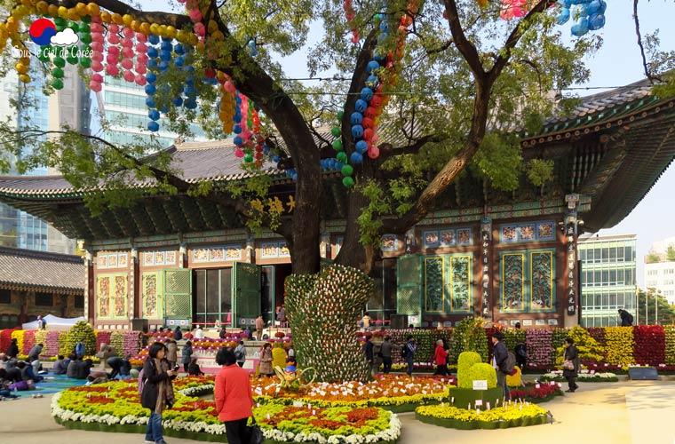 Le temple bouddhiste Jogyesa à Séoul