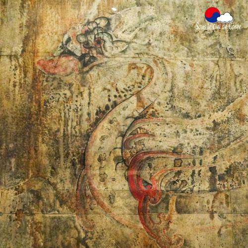 Une très ancienne peinture coréenne représentant un dragon