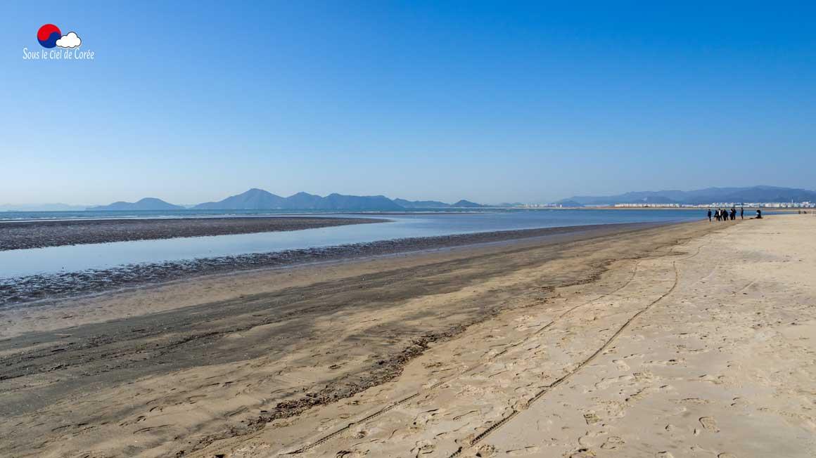 Panorama de la plage de Dadaepo à Busan