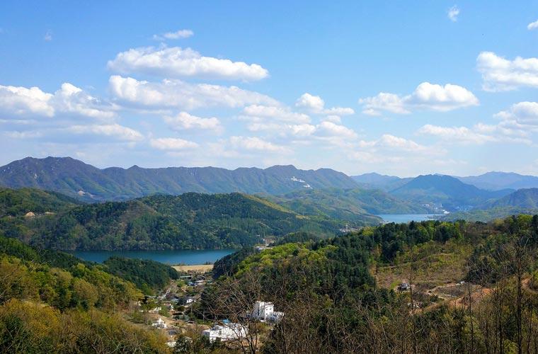 paysage de la région de Chuncheon