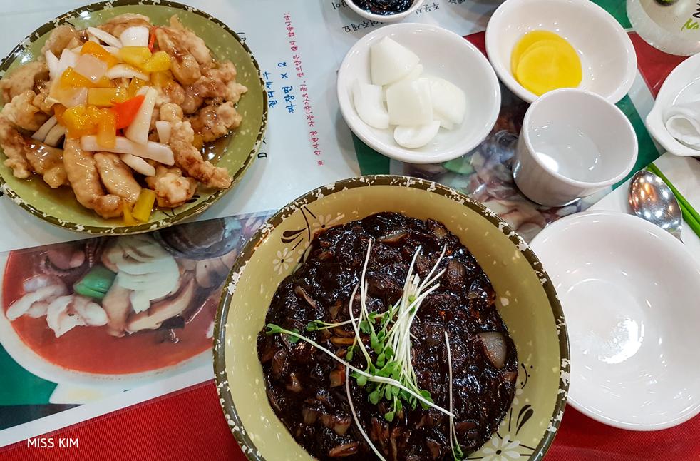 Gastronomie chinoise dans le quartier d'Incheon, en Corée du Sud