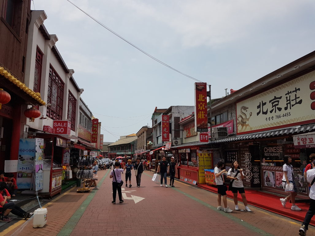 Restaurants dans le quartier d'Incheon, en Corée du Sud