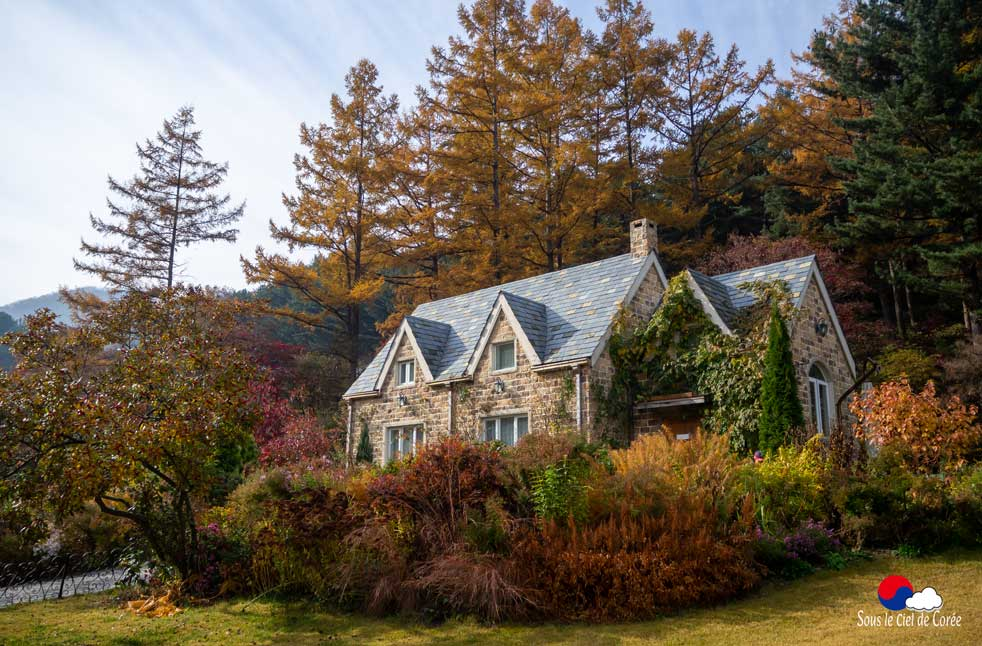 Cottage anglais du Jardin du Matin calme en Corée du Sud