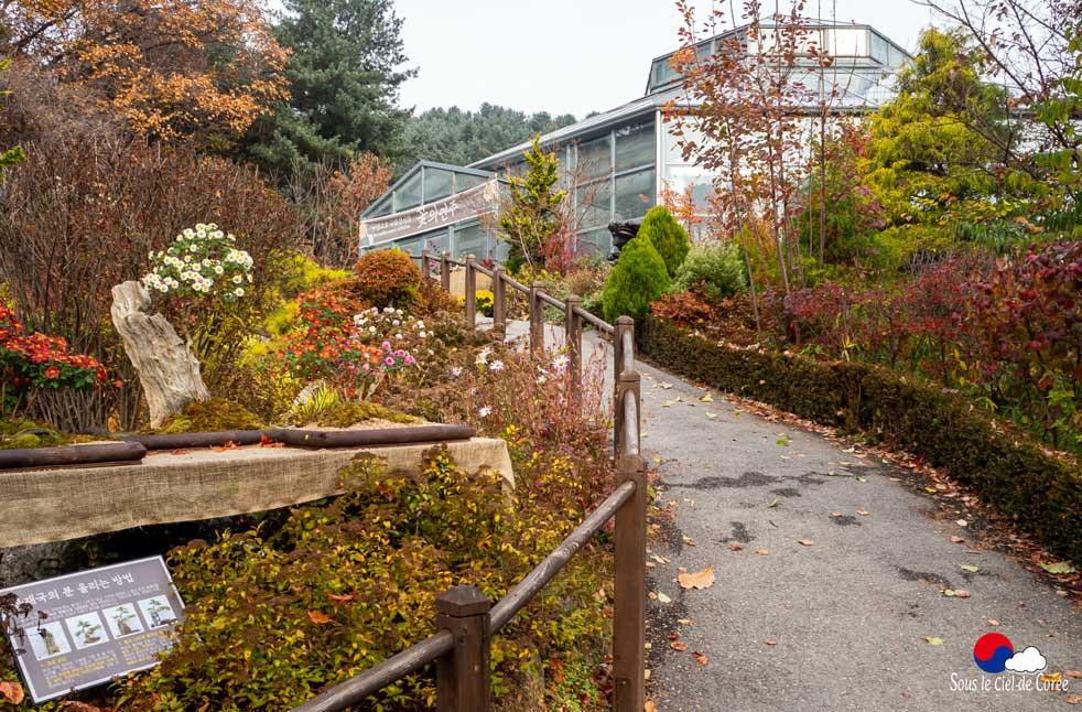 La Maison alpine du Jardin du Matin calme en Corée du Sud