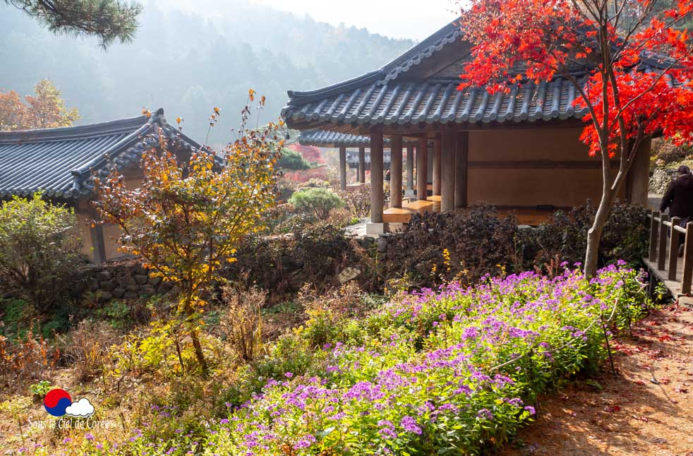 Maison coréenne du Jardin du Matin calme en Corée du Sud