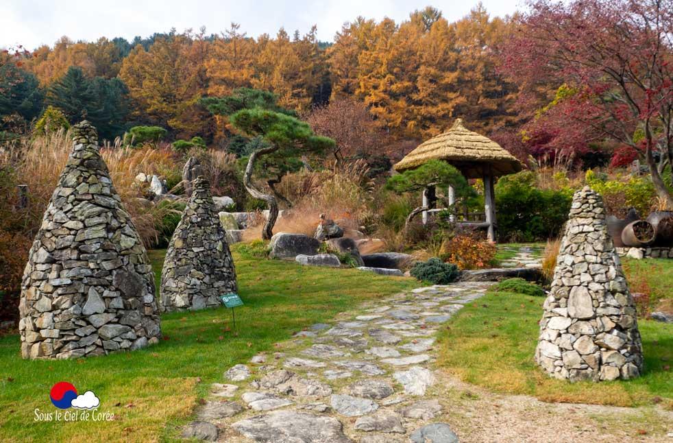 La route du repos, Jardin du Matin calme en Corée du Sud