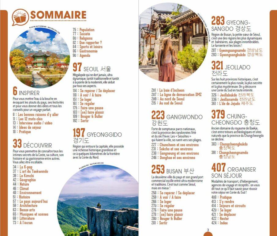 Sommaire du guide Petit Futé Corée du Sud 2020-2021