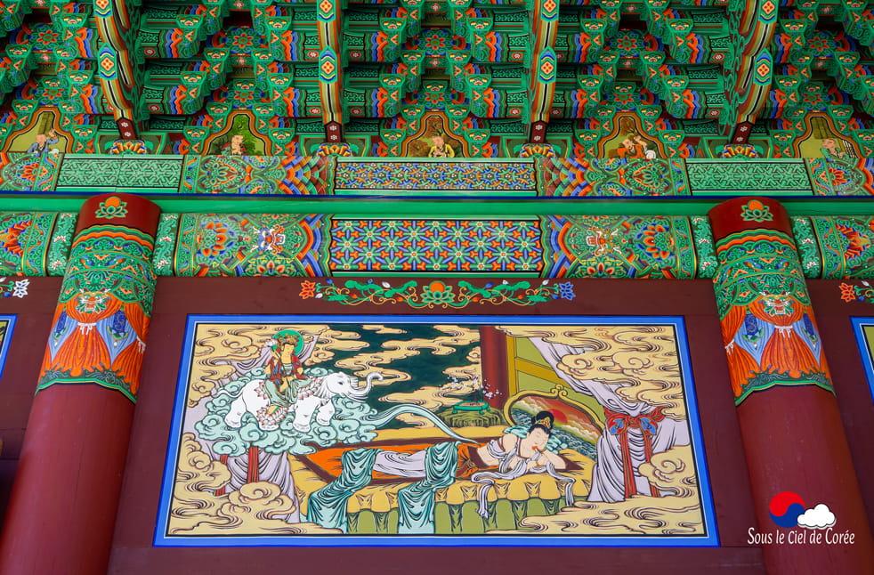 Peintures bouddhiques, Mont Naejangsan en Corée du Sud