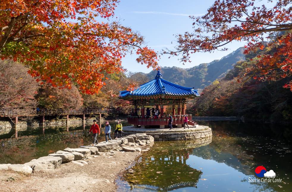 Pavillon Uhwajeong, Mont Naejangsan en Corée du Sud